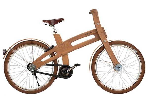Houten bike